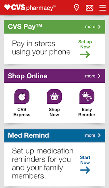CVS Pay_mobile app screen