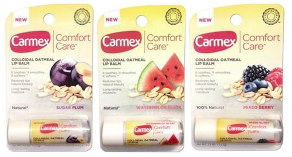 Carmex Comfort Care lip balms