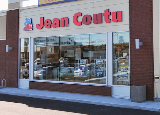 Jean Coutu store banner closeup