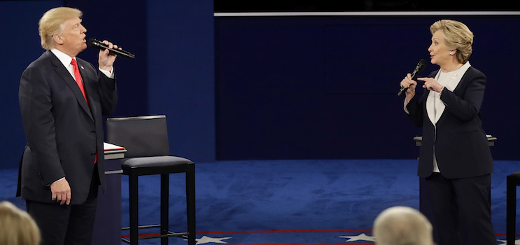 2nd presidential debate 2016_donald trump_hillary clinton