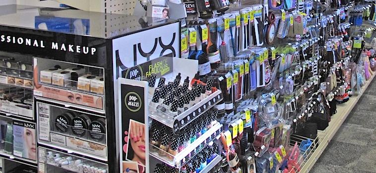 CVS beauty aisle_NYX Cosmetics display