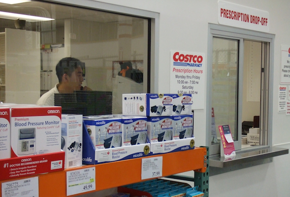 Costco pharmacy window