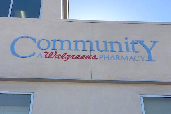 Walgreens community specialty pharmacy_sign