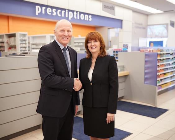 Uniprix CEO Philippe Duval_McKesson Canada president Paula Keays