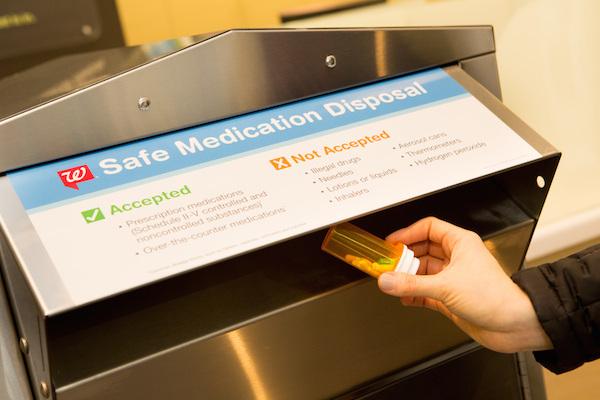 Walgreens drug disposal kiosk