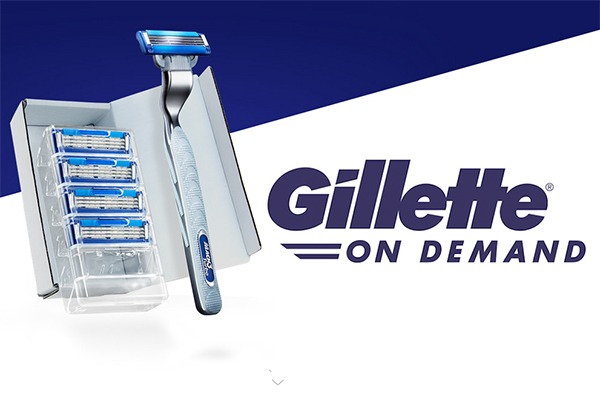 Gillette On Demand shave club subscription box for men