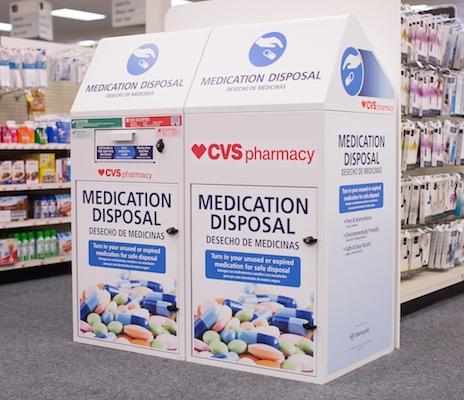 CVS Pharmacy medication disposal box