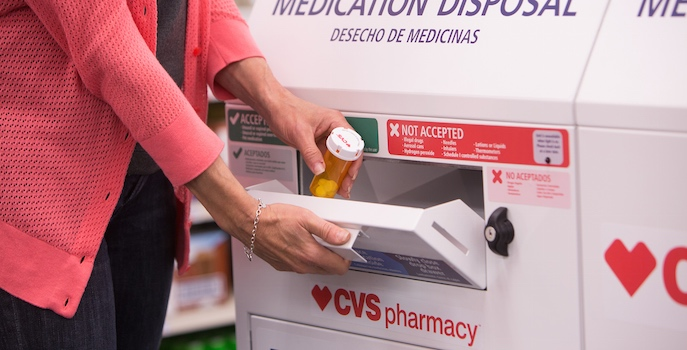 CVS safe medication disposal kiosk