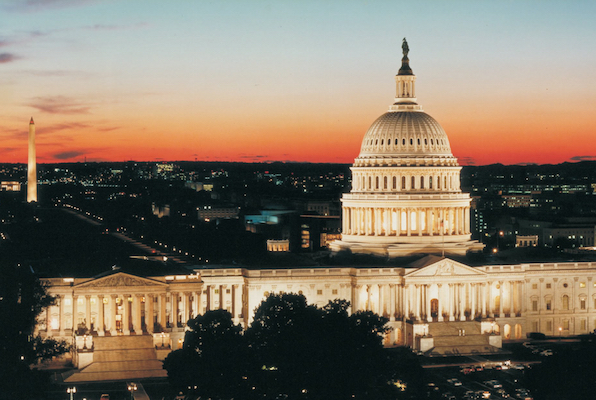 U.S. Capitol building_evening