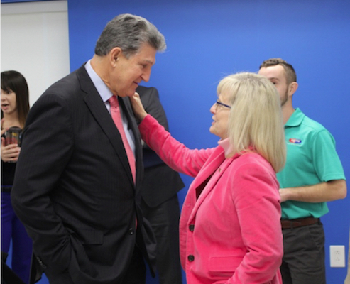 Lynne Fruth_Joe Manchin_Bridge of Hope Fund