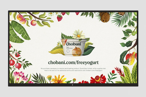 Chobani 10th anniversary_free yogurt campaign