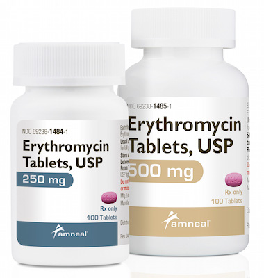 Amneal erythromycin tablets