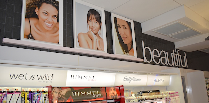 Walgreens beauty department banner