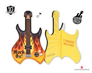 Guitar Party Cards From American Greetings Strike A New Chord