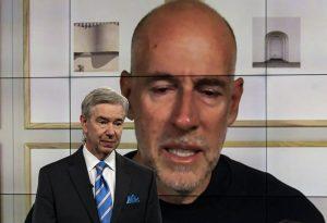 Ed Morgan with on-screen Scott Galloway.